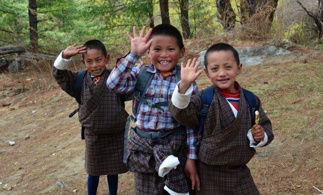 ハ県チュンドゥ学校の子どもたち